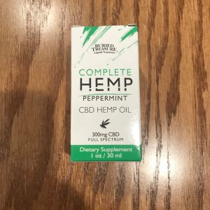 Complete Peppermint CBD Hemp Oil 300mg 1oz SKU=016055510050