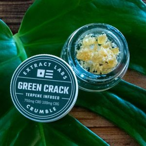 Green Crack CBD Crumble Extract Labs SKU ECGC
