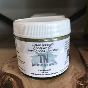 Hemp Infused Coconut Oil with Cocoa Butter 2oz 480mg SKU=TNHB