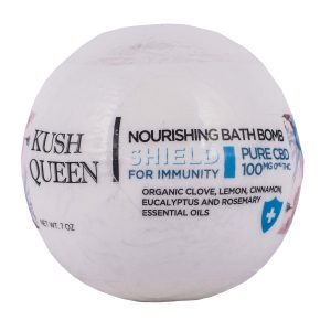 Kush Queen Shield Nourishing Bath Bomb 100mg SKU=KQS100