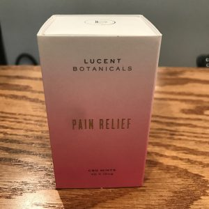 Lucent Botanicals Pain Relief CBD Mints 400mg SKU 857265008001